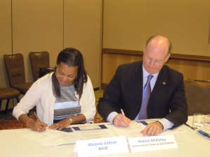 Signing of MOU -SBDCGlobal.com and SBDCBelize, BELTRAIDE