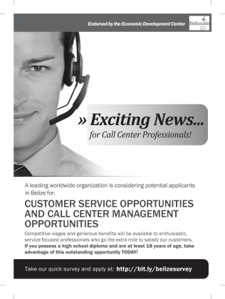 blind-survey-ad-belize1 Job Application Form For Call Center on blank generic, part time, free generic,