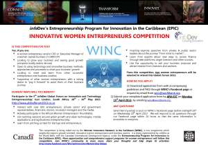 Flyer - Innov Woman Entrepreneur competition