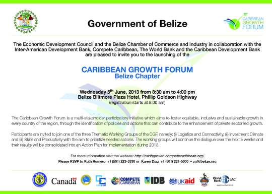 CARIBBEAN GROWTH FORUM Belize National Chapter