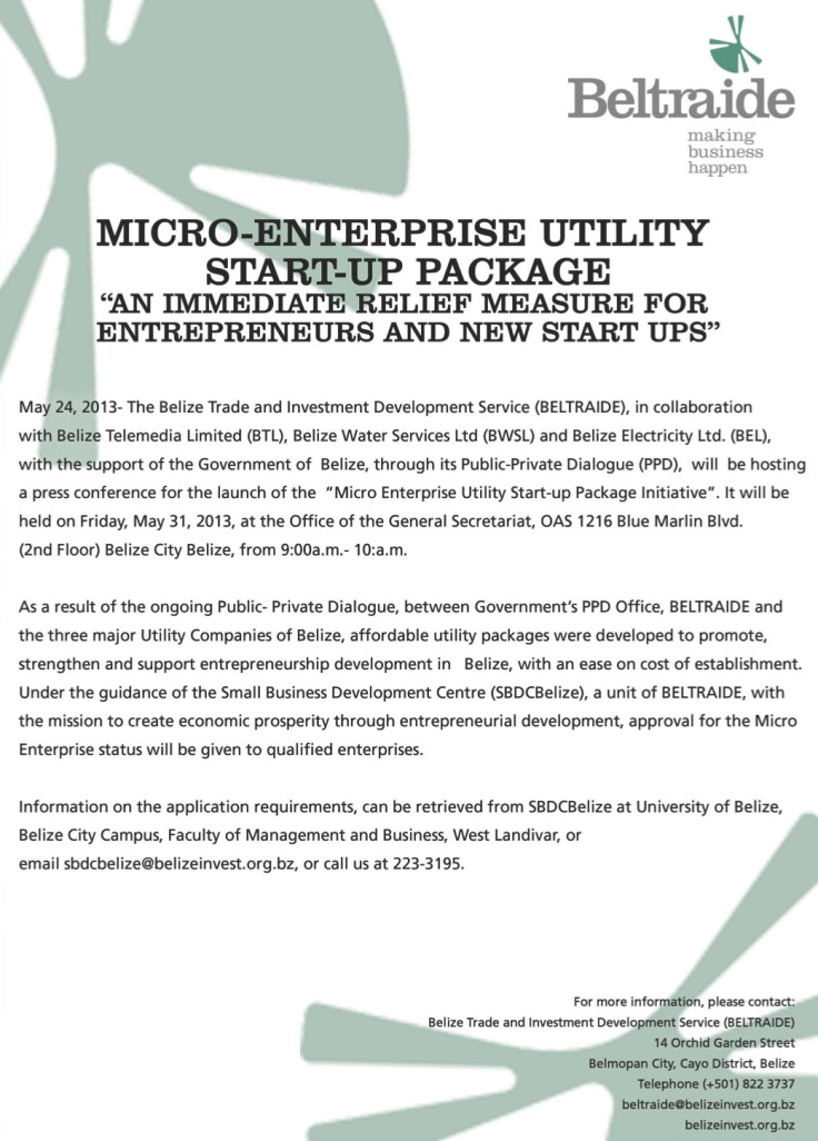 MICRO ENTERPRISE UTILITY PACKAGE Press Conference
