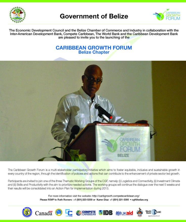 CARIBBEAN GROWTH FORUM - Belize National Chapter, Launch Workshop
