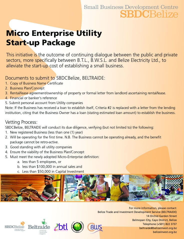 Micro Enterprise Utility Start-up Package