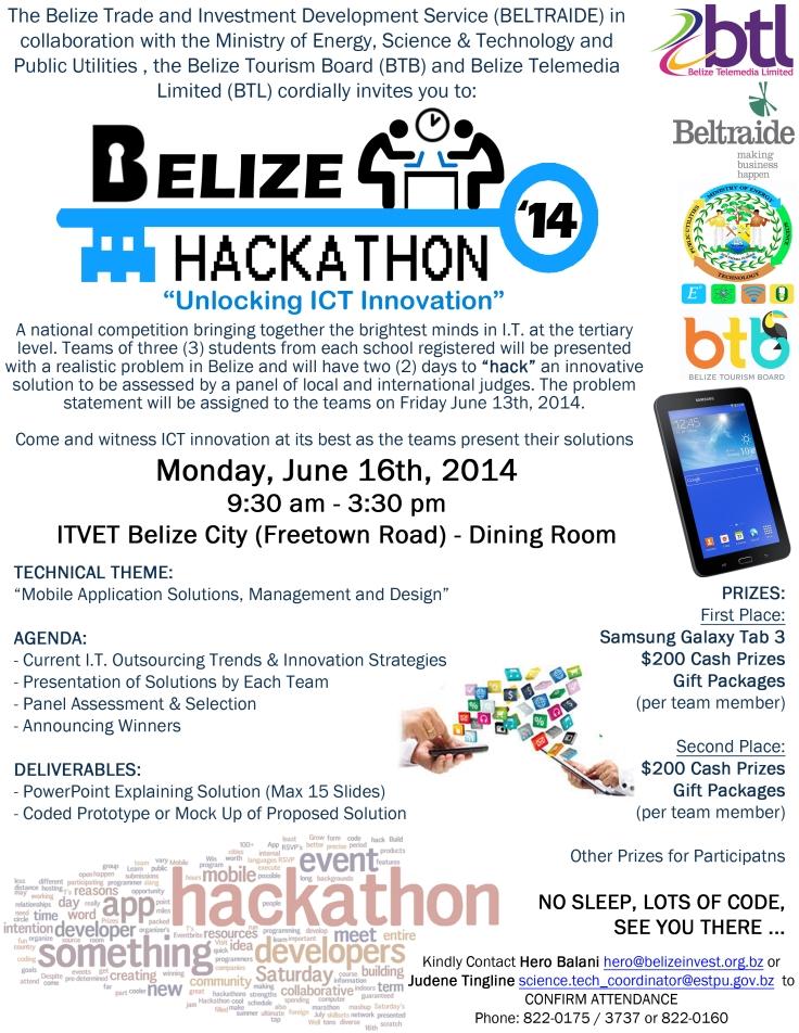 BELIZE HACKATON 2014 - Unlocking ICT Innovation