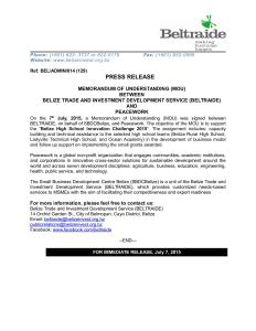 Press_Release_-_MOU_BELTRAIDE_Peacework_July_2015
