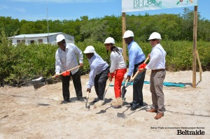 (L-R) Alan Slusher, President of the University of Belize, Melanie Gideon , CEO