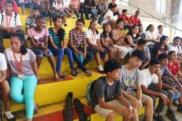 Students at BCCI Open Day in San Ignacio