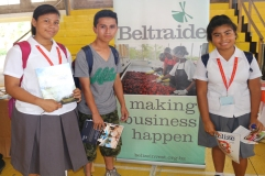 Students at Beltraide booth during BCCI Open Day