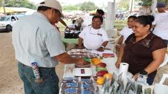 Sampling of Che'il Maya chocolates on display at Belraide's booth