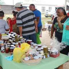 Samplng of jams produced by Belizean Home made Jellies from Cayo District