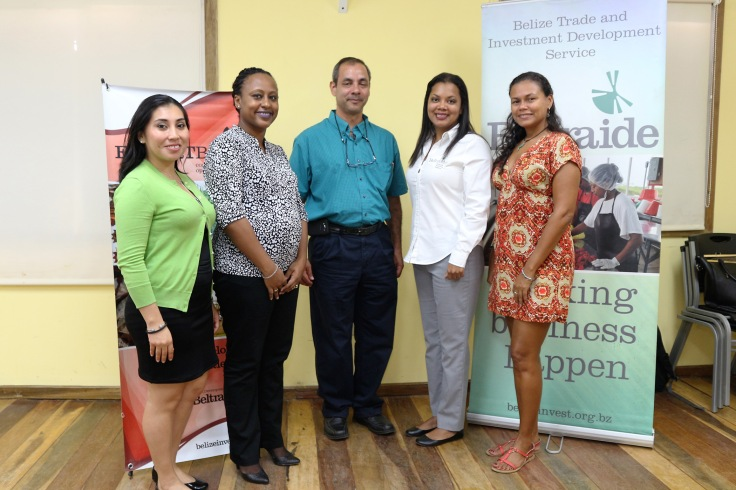 from-left-debbie-alfaro-beltraide-project-officer-shahera-mckoy-manager-exportbelize-and-alejandro-martinez-and-julianne-robinson-from-nature-conservancy