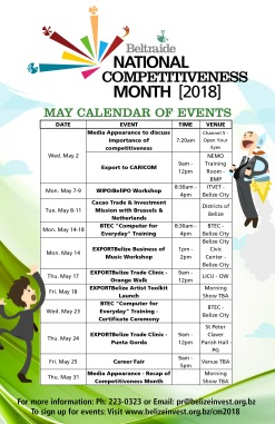 National Competitiveness Month (May 2018) Calendar