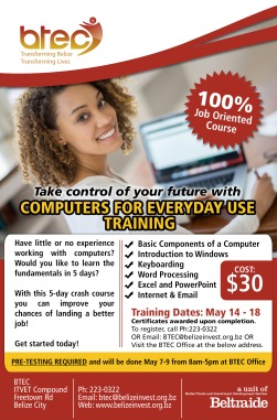 Computers for Everyday Use Training Flyer